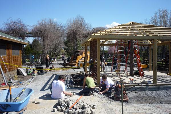 Construction du jardin Portes du temps